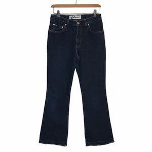 Vintage Express Bleus Raw Hem Dark Wash Jeans 6S
